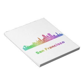 Rainbow San Francisco skyline Notepads