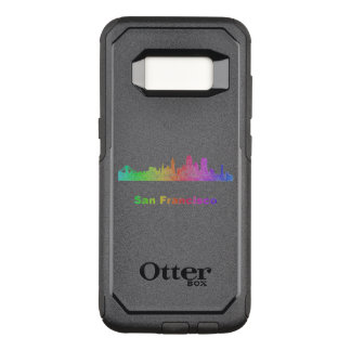 Rainbow San Francisco skyline OtterBox Commuter Samsung Galaxy S8 Case