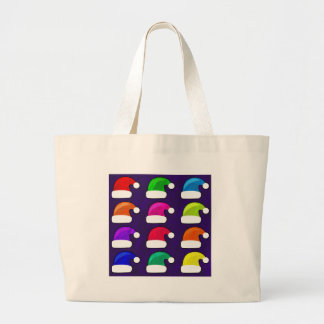 Rainbow Santa Hat Jumbo Tote Bag