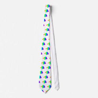 Rainbow Santa Hat Tie