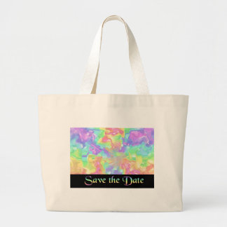 Rainbow Save the Date Tote Bag