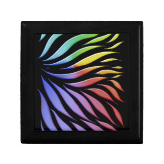 Rainbow Scribble Funky Black Gift Box