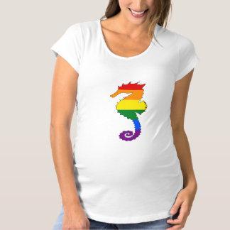 Rainbow Seahorse Maternity T-Shirt