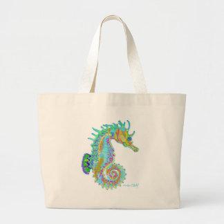 Rainbow Seahorse Tote