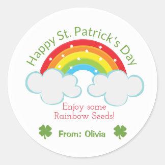 Rainbow Seeds St. Patrick's Day Custom Sticker