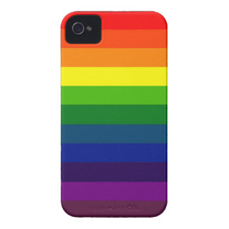 RAINBOW SELECT a multi-colored striped design iPhone 4 Cases