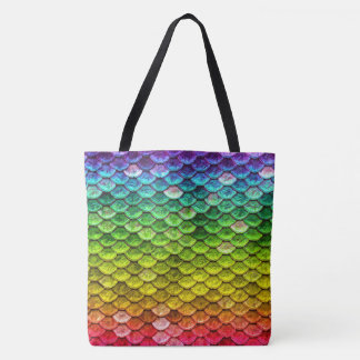 Rainbow Serpent scales Tote Bag