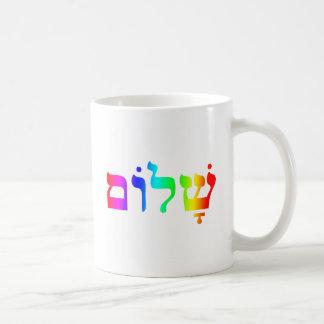 Rainbow Shalom Mug