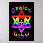 Rainbow Shalom Poster