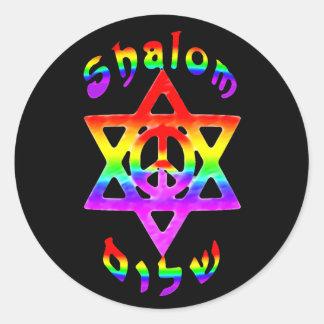 Rainbow Shalom Stickers