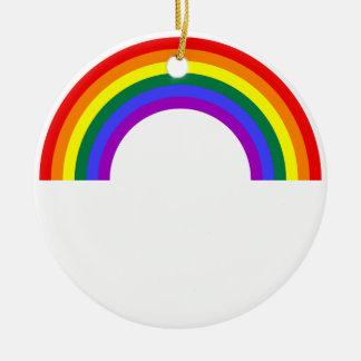 Rainbow Shape Round Ceramic Decoration