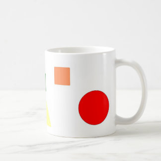 Rainbow shapes coffee mug