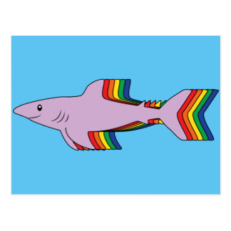 Rainbow Shark Postcard