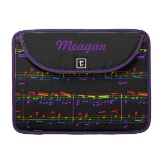 Rainbow Sheet Music MacBook Sleeve MacBook Pro Sleeve