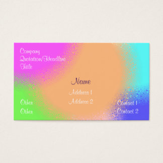 Rainbow Sherbert Business Card