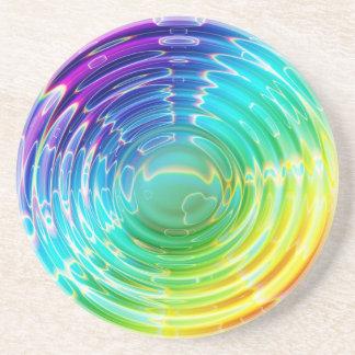 Rainbow Shockwave Beverage Coaster