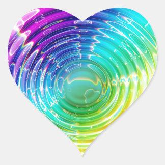 Rainbow Shockwave Heart Sticker