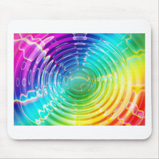 Rainbow Shockwave Mouse Pad