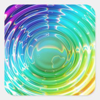 Rainbow Shockwave Square Sticker