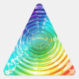 Rainbow Shockwave Triangle Sticker
