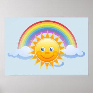 Rainbow Skies Office Personalize Destiny Destiny'S Poster