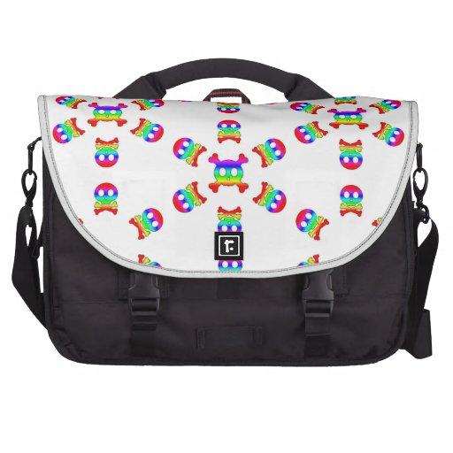 Rainbow Skull and crossbones Rickshaw laptop bag