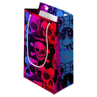 Rainbow Skull Bling Small Gift Bag
