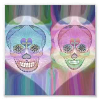 Rainbow Skull Couple Photograph