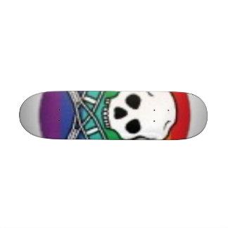 Rainbow Skull Crutch Skate Board