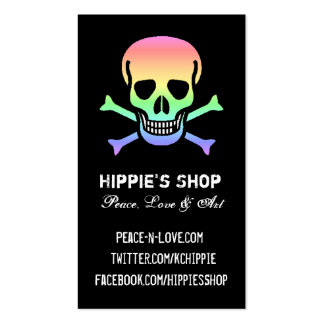Rainbow Skull Custom Business Cards