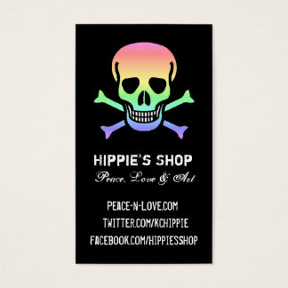 Rainbow Skull Custom Business Cards