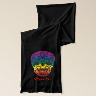 rainbow skull scarf