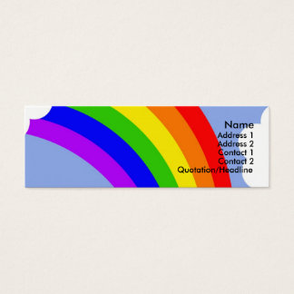 Rainbow Sky Mini Business Card