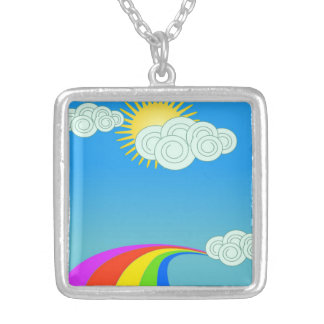 RAINBOW SKY SILVER PLATED NECKLACE