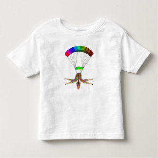 Rainbow Skydiving by The Happy Juul Company Toddler T-Shirt