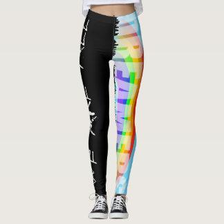 Rainbow Skyline Daca Dreamers 2 Black Leggings