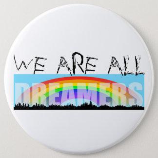 Rainbow Skyline Daca Dreamers 2 Colossal Button