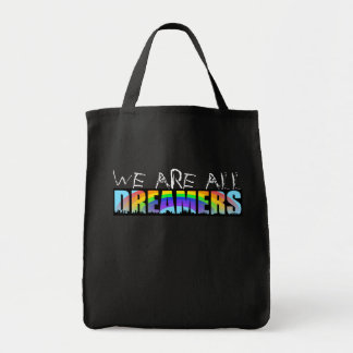 Rainbow Skyline Daca Dreamers Black Grocery bag