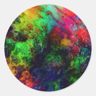 Rainbow Slime Classic Round Sticker