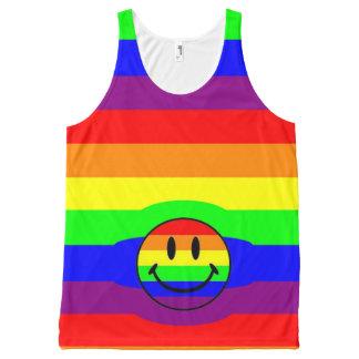 rainbow smiley All-Over print singlet