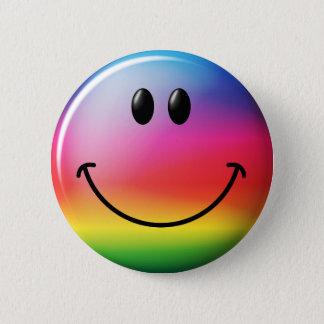 Rainbow Smiley Face 6 Cm Round Badge