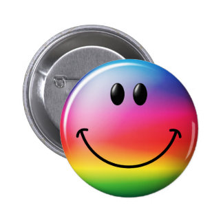 Rainbow Smiley Face Pins