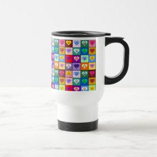 Rainbow Smiley Hearts squares Mugs