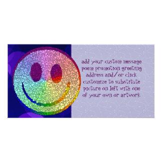 Rainbow Smiley Custom Photo Card