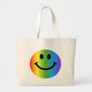 Rainbow Smiley Tote Bag