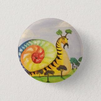 rainbow snail 3 cm round badge