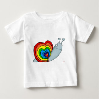 RAINBOW SNAIL AVAL BABY T-Shirt