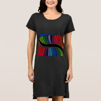 Rainbow Snake Black Dress