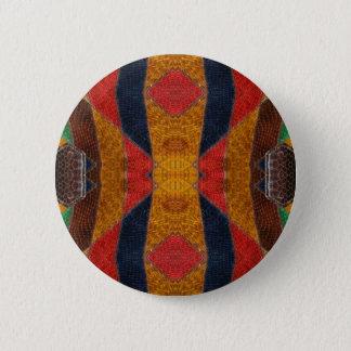 Rainbow Snake leather pattern 6 Cm Round Badge