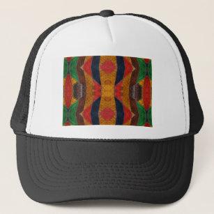 cabe01e0727350 Rainbow Snake leather pattern Trucker Hat